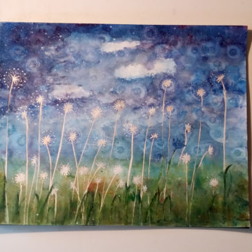 Att måla akvarell…